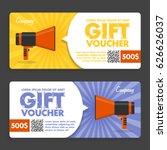 gift voucher. flat design.... | Shutterstock .eps vector #626626037
