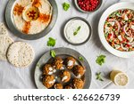 selection of traditional arab... | Shutterstock . vector #626626739