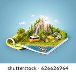mountain  forest  green meadow... | Shutterstock . vector #626626964