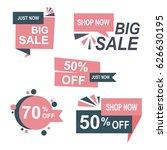 big sale and discount badge set ... | Shutterstock .eps vector #626630195