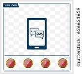 smartphone email or sms icon.... | Shutterstock .eps vector #626631659