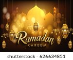 ramadan greetings background ... | Shutterstock .eps vector #626634851