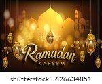 ramadan greetings background ...   Shutterstock .eps vector #626634851
