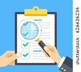 hand holding checklist... | Shutterstock .eps vector #626636234