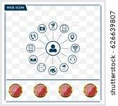technology web icons set | Shutterstock .eps vector #626639807