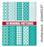set of ten minimal patterns... | Shutterstock .eps vector #626640137