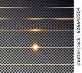 gold divider light line... | Shutterstock .eps vector #626642204