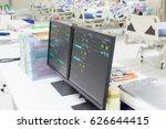 icu room patients crisis ward... | Shutterstock . vector #626644415