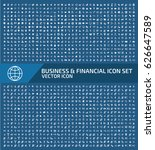 business and finance icon set... | Shutterstock .eps vector #626647589