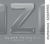 alphabet set   transparent... | Shutterstock .eps vector #626654501