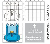 copy the picture using grid... | Shutterstock .eps vector #626655479