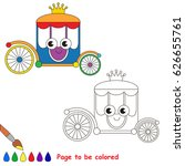 funny princess chariot to be... | Shutterstock .eps vector #626655761