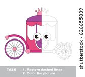funny princess chariot. dot to...   Shutterstock .eps vector #626655839