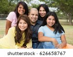 happy hispanic family | Shutterstock . vector #626658767