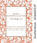 romantic invitation. wedding ...   Shutterstock .eps vector #626660219