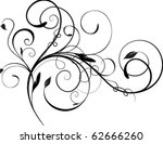 abstract floral element | Shutterstock .eps vector #62666260