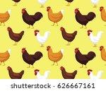 chicken cornish cross wallpaper   Shutterstock .eps vector #626667161
