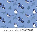 blue jay cartoon seamless... | Shutterstock .eps vector #626667401
