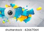 Human Eye With Abstract...