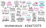 hello summer lettering... | Shutterstock .eps vector #626672375