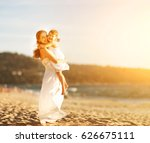happy family at the beach.... | Shutterstock . vector #626675111