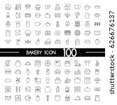 bakery icon set | Shutterstock .eps vector #626676137