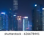illuminated cityscape at night... | Shutterstock . vector #626678441
