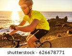cyclist biking looking at... | Shutterstock . vector #626678771