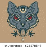 hand drawn beautiful artwork of ... | Shutterstock .eps vector #626678849