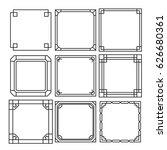 asian frame ornament  pattern... | Shutterstock .eps vector #626680361