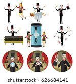 magician tricks | Shutterstock .eps vector #626684141