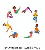 cute cartoon gymnastics for... | Shutterstock .eps vector #626687471