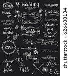 handwritten wedding sentiments | Shutterstock .eps vector #626688134