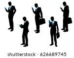 silhouette of businessman on... | Shutterstock .eps vector #626689745