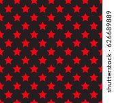 Seamless Red Star On Black...