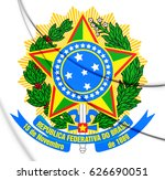 3d brazil coat of arms. 3d... | Shutterstock . vector #626690051