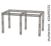 steel truss girder rooftop... | Shutterstock . vector #626690231