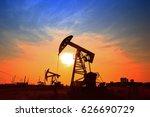the oil pump  industrial... | Shutterstock . vector #626690729