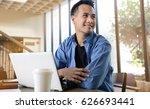 happy young businessman working ...   Shutterstock . vector #626693441