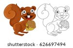 animal outline for squirrel... | Shutterstock .eps vector #626697494