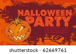 halloween poster with pumpkin.... | Shutterstock .eps vector #62669761