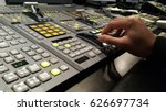 controlled in a broadcast studio | Shutterstock . vector #626697734
