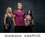 threesome fitness model of... | Shutterstock . vector #626699135
