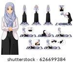 complete set of muslim woman... | Shutterstock .eps vector #626699384