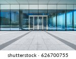 empty pavement front of office... | Shutterstock . vector #626700755