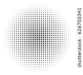 halftone circles  halftone dot... | Shutterstock .eps vector #626703341