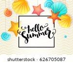 vector hand lettering summer... | Shutterstock .eps vector #626705087