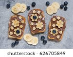 toast bread with chocolate... | Shutterstock . vector #626705849