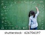 elementary school kid student... | Shutterstock . vector #626706197