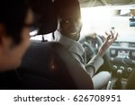 young car driver asking... | Shutterstock . vector #626708951
